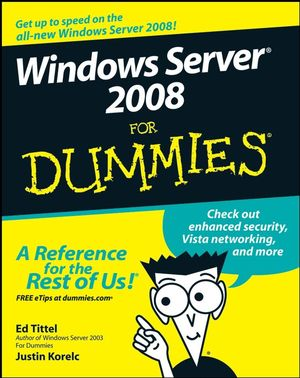 Windows Server 2008 For Dummies Book Cover Image