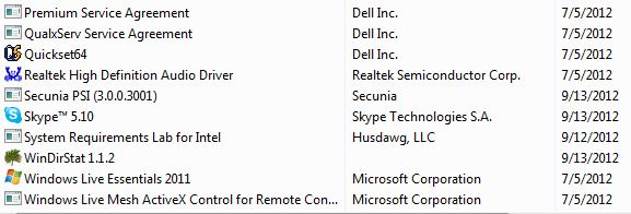 Almost everything Dell includes has its name on it