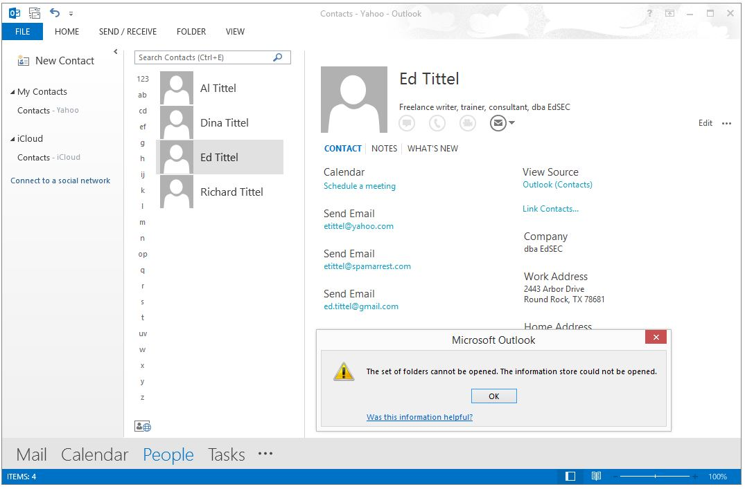 interesting adventures with icloud and outlook 2013 ed tittel