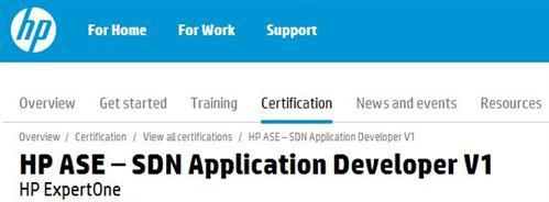 HP ASE SDN App Dev 1 banner