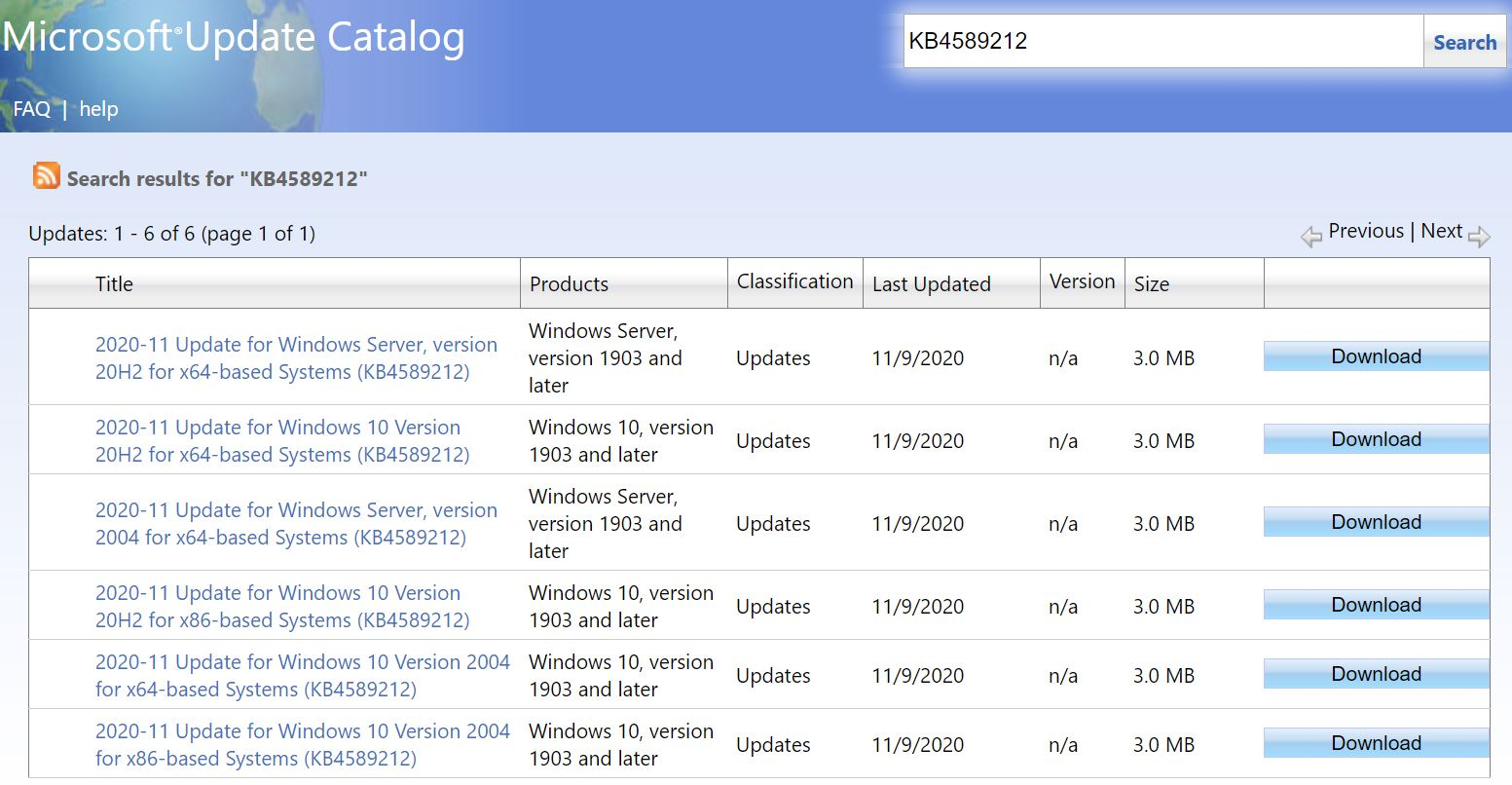 KB4589212 Offers Intel Microcode Updates.catalog