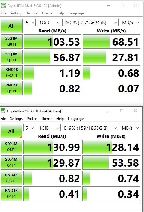 Practice Shows Little Speed Difference USB 3.0 versus USB-C.3top-Cbottom
