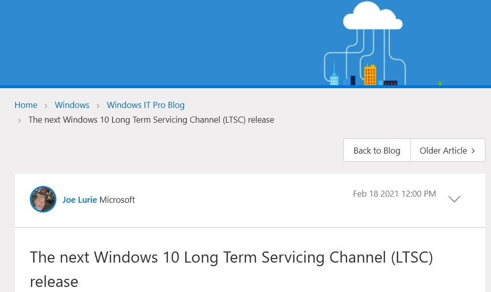 Starting with the upcoming 21H2 release, Windows 10 LTSC Lifetime Gets Halved.