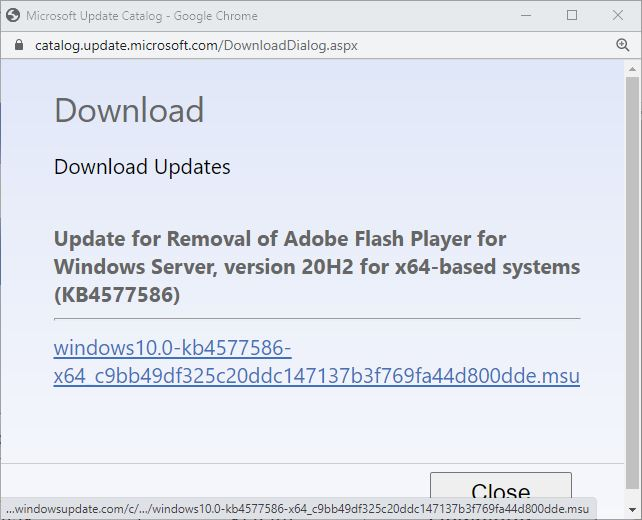 KB4577586 Flash Killer Download Available right now.
