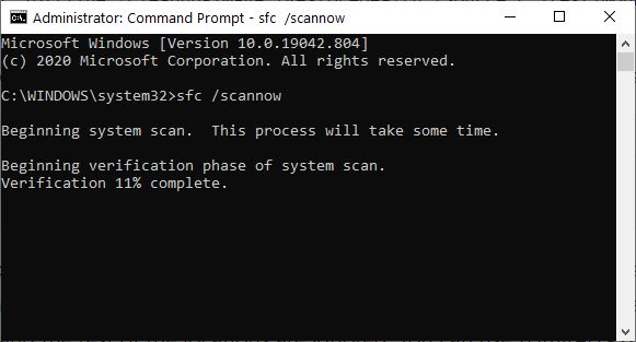 By replacing damaged or corrupt OS files, DISM Trumps SFC To Fix Hung Execution.