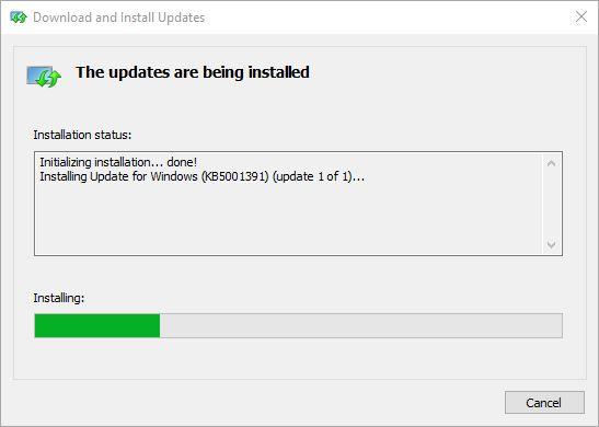 Update Download Stuck Forces Interesting Maneuvers.manual-update-installer