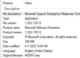 Using Microsoft Safety Scanner.details