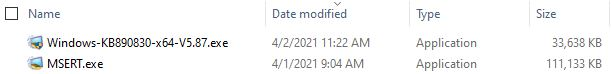 Using Microsoft Safety Scanner.sizes