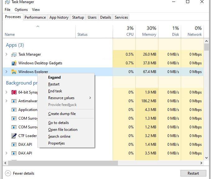 Further Windows Explorer Restart Follies