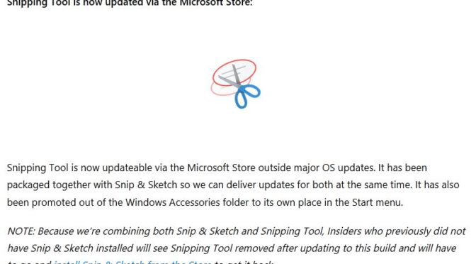 Store Gets Snipping Tools With Build 21354