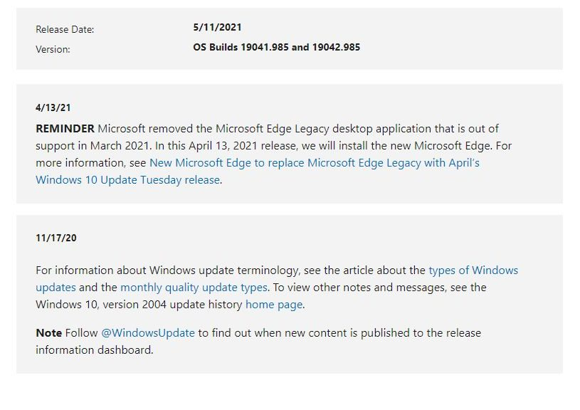 KB5003173 Brings Critical Security Updates
