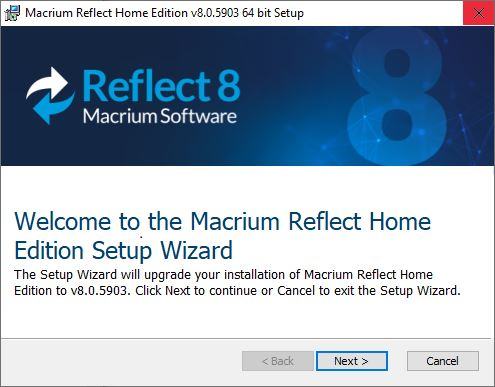 Macrium Reflect 8 Drops Commercial-only Versions.upgrade screen