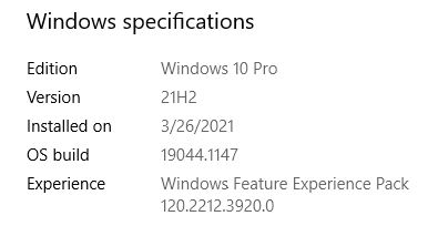 Surface Pro 3 Gets 21H2 Feature Update