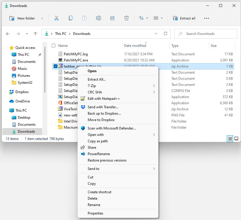 Confusing Windows 11 Scissors and Trashcan.more-options