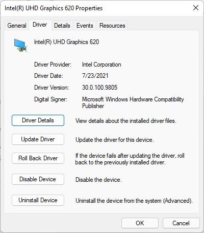 Discretionary New Intel 30.0.100.9805 Graphics Driver