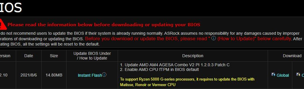 New BIOS Defaults Target Windows 11