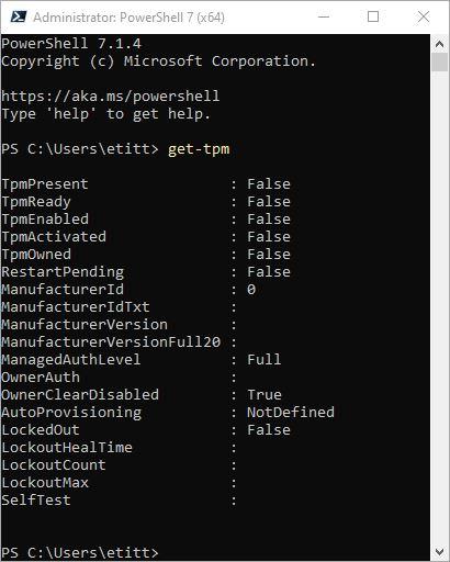 Check Windows TPM Status 2 Ways.get-tpm