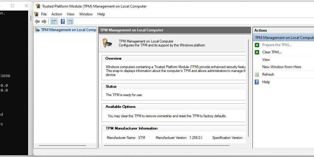 Check Windows TPM Status 2 Ways
