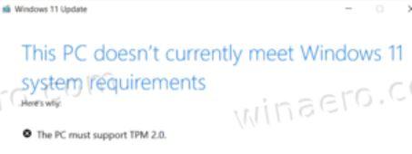 Windows 11 22458 Enforces TPM Support.no-tpm