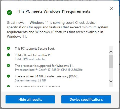 Checking Target PC Windows 11 Readiness