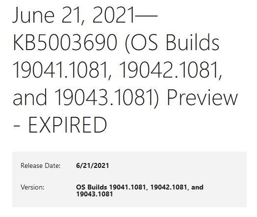 Windows Updates Gain Expiration Dates
